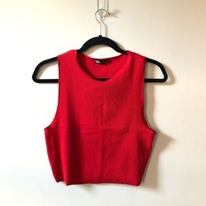 Zara Basics Red Tank Top